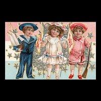 Nash Patriotic Fourth of July Vintage postcard Series  No 4