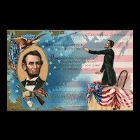 President Abe Lincoln Birthday Series No 1 Centennial Souvenir Vintage postcard