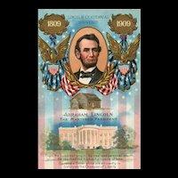 The Martred President Abraham Lincoln Patriotic Centennial Souvenir Postcard Nash