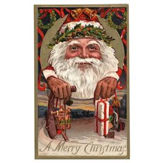 Close Up Santa Claus Conwell 1909 numbered 273 Vintage Christmas postcard