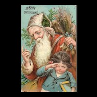 Rare & early 1907 #642 Santa Claus with child