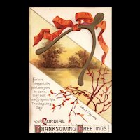 Beautiful and Scarce Ellen Clapsaddle Vintage Thanksgiving Postcard