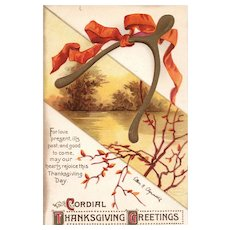 Beautiful and Scarce Ellen Clapsaddle Vintage Thanksgiving Postcard