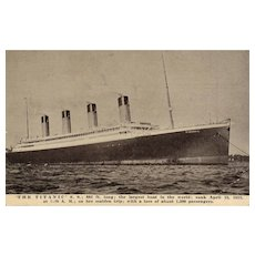 Rare Early 1900's Titanic Ship Commemorative Memorial Vintage Postcard Salesman Sample
