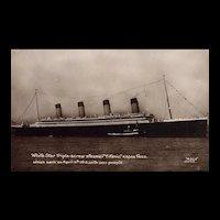 Great Britain Real Photo Postcard Titanic Vintage Postcard