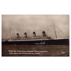 Great Britain Real Photo Postcard Titanic Vintage Postcard