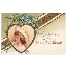 Ellen Clapsaddle International Art Series 846 Vintage Valentine Sweetheart Postcard