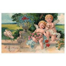 PFB Vintage Valentine Series 5885 Cupid Postcard