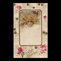 Samuel Schmucker John Winsch Vintage Silk Valentine Postcard Beautiful  Woman in Web
