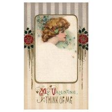 3 of 3 John Winsch Samuel Schmucker Vintage Silk Valentine Fantasy postcard