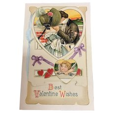 Spectacular Romantic Valentine Booklet by John Winsch vintage Postcard 100 years of love