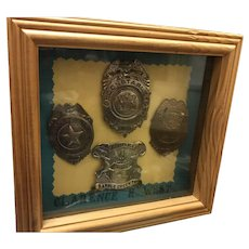 Set of 4 Police Badges Constable Sheriff Battle Creek Michigan with Providence