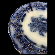 1820-1850s Blue Flo Plates set of 16