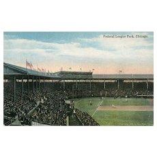 1914 Early Federal League Park Chicago Illinois IL Baseball Park
