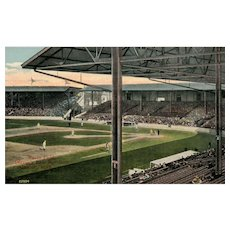 1914 Early Navin Field Detroit Tigers Baseball Park Michigan MI vintage Postcard