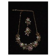 Vintage Coro Necklace with Matching Earrings