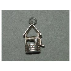 Vintage Wishing Well British Silver Charm