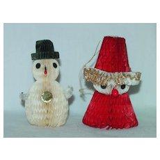 Vintage Paper Honeycomb Christmas Decorations