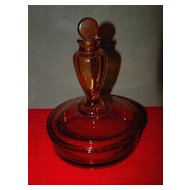 Fostoria Boxtle - Perfume Bottle and Powder Box