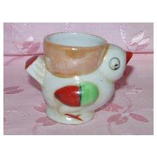 Figural Eggcup Chick / Bird Lustre Egg Cup - Japan
