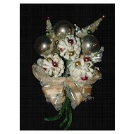 Vintage Christmas Corsage - Bottle Brush Trees
