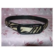 Vintage Genuine Zebra Belt - Lord and Taylor