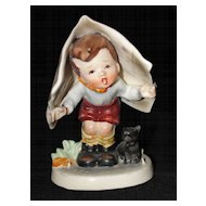 Vintage Napco Figurine Keeping Dry