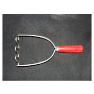 Red Bakelite Handled Potato Masher