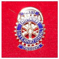 14K Rotary International Past President Lapel Pin
