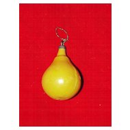 Small Hand Blown Glass Pear Christmas Ornament