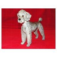 Precious Goebel Grey Ceramic Poodle Figurine