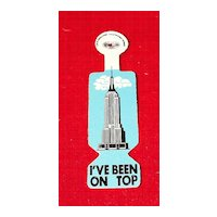 Empire State Building New York City Tourist Pin I've Been On Top