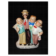Vintage Ceramic Barber Shop Quartet Vase Made in Japan