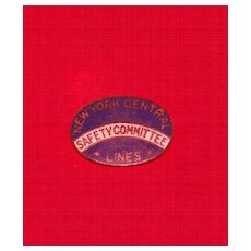 New York Central Lines Safety Committee Enamel Lapel Pin