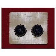 Pair of Vintage Bergere Clip On Earrings on Original Card