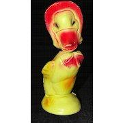 Chalkware Mama Duck with Bonnet Nodder