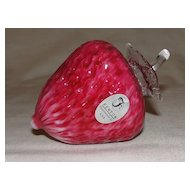 Fenton Glass Strawberry Handcrafted by Dave Fetty 2003