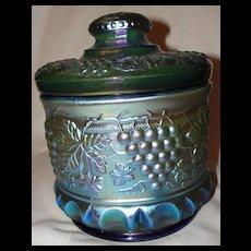 Fenton Favrene Glass Grape and Cable Tobacco Jar