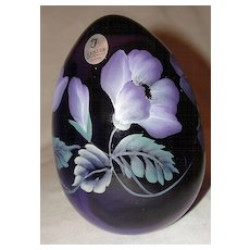 Fenton Violet Hand Painted Off Hand Egg
