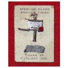 New Old Stock Sterling Silver Mechanical Mail Box Charm