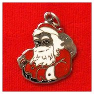Beau Sterling Silver and Enamel Santa Claus Charm