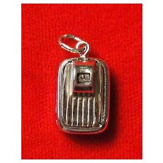 Vintage Mechanical Bathroom Scale Charm - Sterling Silver