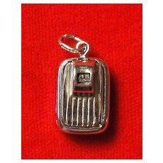 Vintage Mechanical Bathroom Scale Charm - Sterling Silver