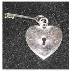 Vintage Danecraft Sterling Silver Key to My Heart Charm