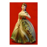 Vintage Napcoware Girl Planter in Green Ball Gown