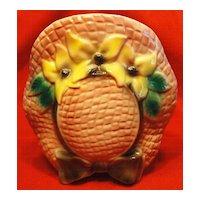 Royal Copley Ceramic Pink Sunbonnet Wall Pocket
