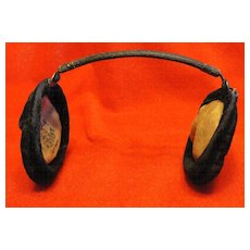 Victorian Antique Black Velvet Ear Muffs Kleinert New York