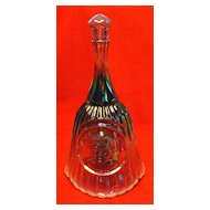 Frank L Fenton Plum Opalescent Commemorative Glass Bell