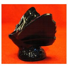 Black Fenton Art Glass Butterfly Undecorated