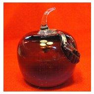 Off Hand Plum  Opalescent Glass Apple